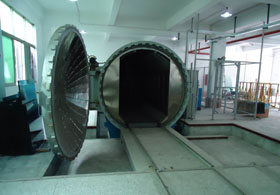 Rail track for autoclave